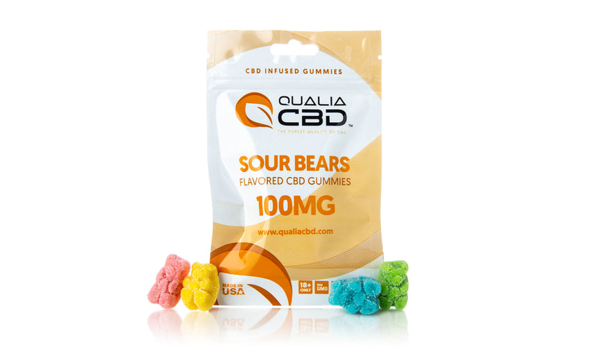 Qualia CBD Infused Sour Gummy Bears
