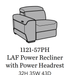 Flexsteel Latitudes Lexon Leather LAF Power Recliner w/Power Headrest 1121-57PH/988-84 image