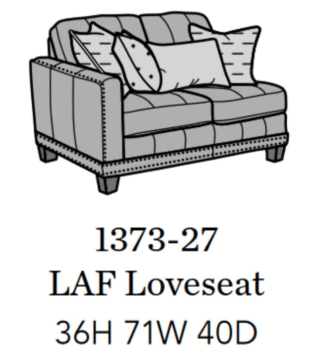 Flexsteel Latitudes Port Royal Leather LAF Loveseat 1373-27/671-70 image