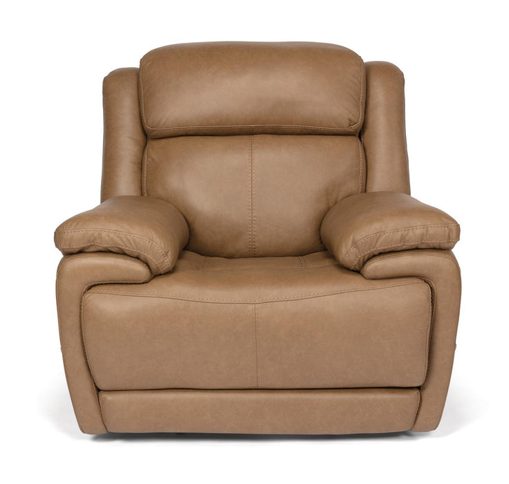 Flexsteel Latitudes Elijah Leather Power Recliner w/Power Headrest 1465-50PH/326-74 image