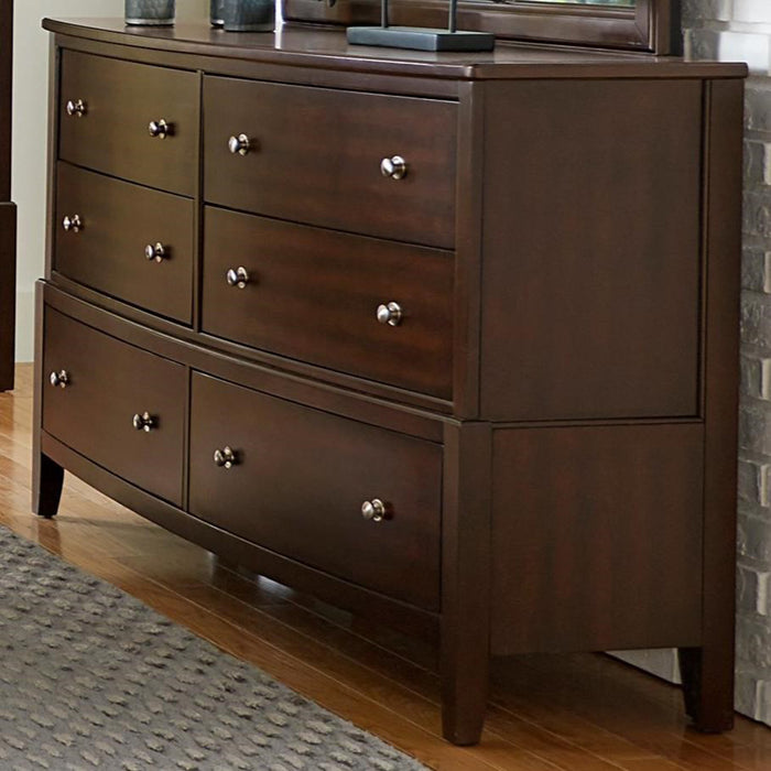 Homelegance Cotterill 6 Drawer Dresser in Cherry 1730-5 image