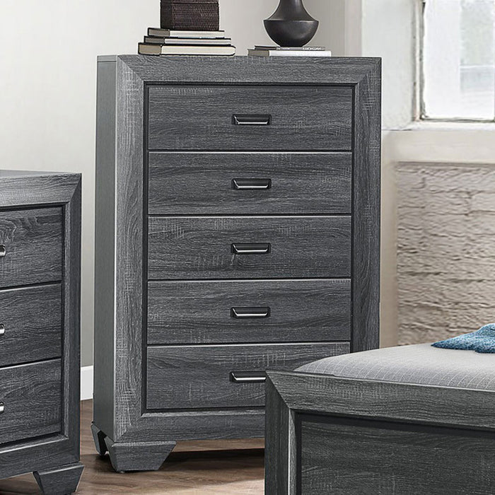 Homelegance Beechnut 5 Drawer Chest in Gray 1904GY-9 image
