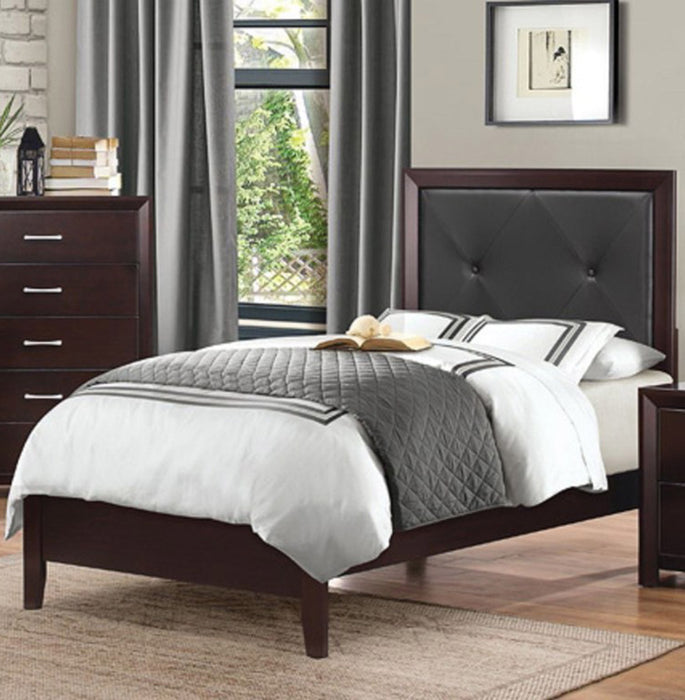 Homelegance Edina Full Panel Bed in Espresso-Hinted Cherry 2145F-1 image