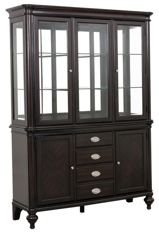 Homelegance Marston Buffet with Hutch in Dark Cherry 2615DC-50-55 image