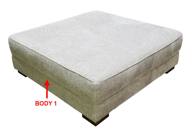 290-67 XL Sq. Cocktail Ottoman