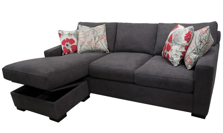 383-97 Sofa Chaise w/ Storage