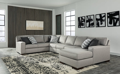 Marsing Nuvella Benchcraft 5-Piece Sectional with Chaise image