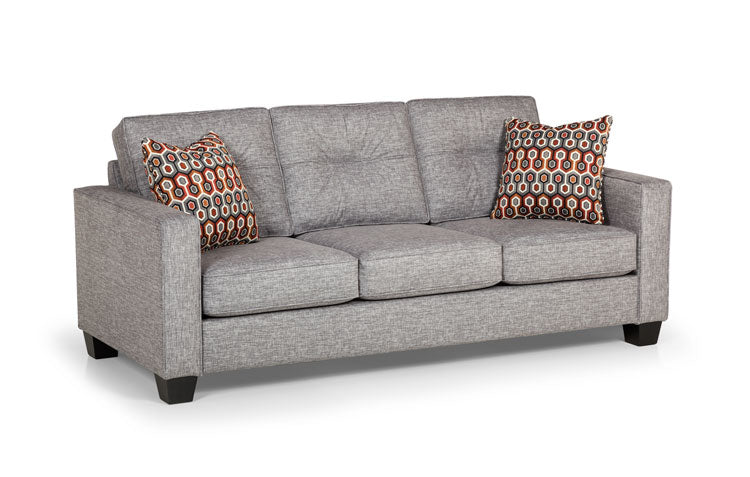 448-01 Hazey Fog - Repetition Tangerine Sofa