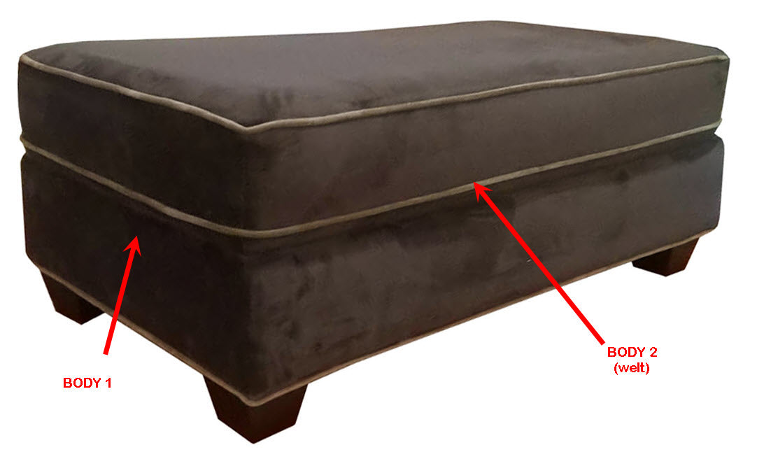 456-43 Rectangle Cocktail Ottoman