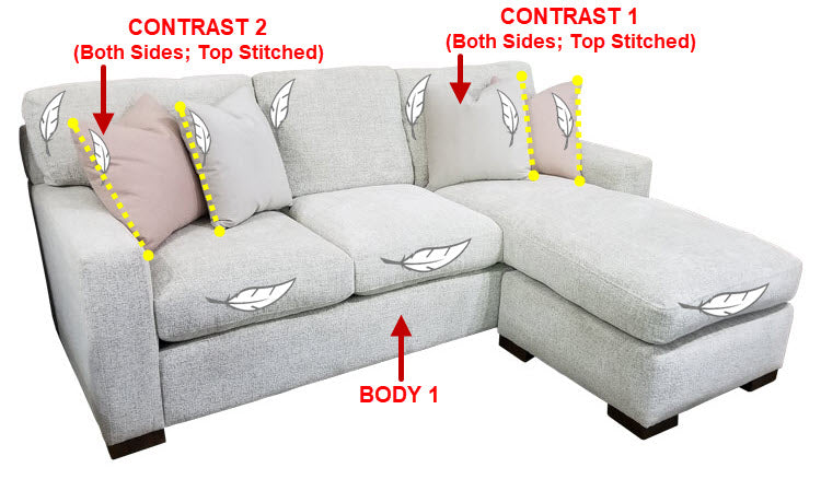 471-97 Sofa Chaise w/ Stor.