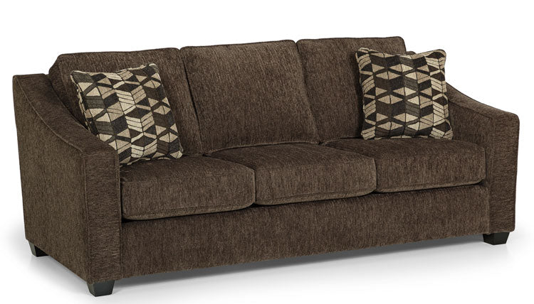 496-01 Lux Dark Grey - Denali Pewter Sofa