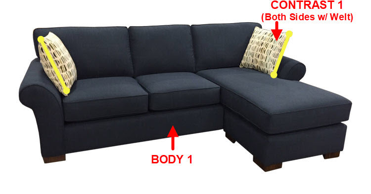 551-97 Sofa Chaise w/Stor