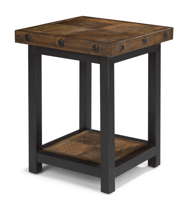 Flexsteel Carpenter Chairside Table in Rustic Brown 6722-07 image