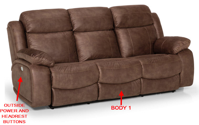 853-51 Pwr HR Recl. Sofa