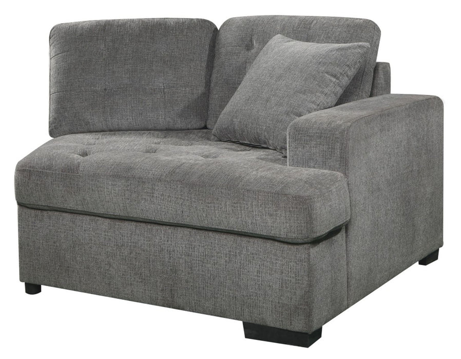 Homelegance Furniture Logansport Right Side Cuddler with 1 Pillow in Gray 9401GRY-RU image