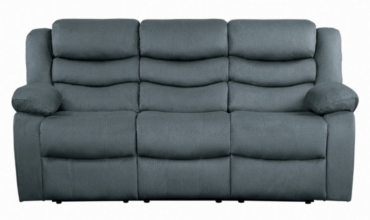 Homelegance Furniture Discus Double Reclining Sofa in Gray 9526GY-3 image