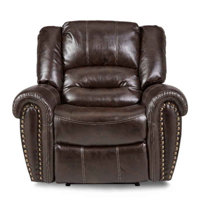 Homelegance Furniture Center Hill Glider Reclining Chair in Dark Brown 9668BRW-1 image