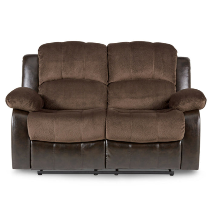 Homelegance Furniture Granley Double Reclining Loveseat in Chocolate 9700FCP-2 image
