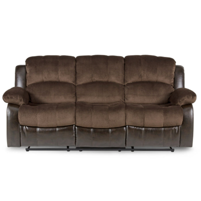 Homelegance Furniture Granley Double Reclining Sofa in Chocolate 9700FCP-3 image
