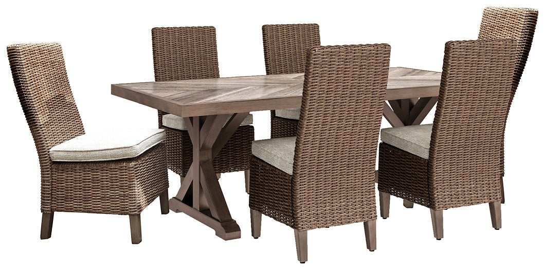 Beachcroft Signature Design Dining Tbale 7-Piece Outdoor Dining Set image