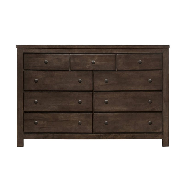 Emerald Home Ashton Hills Dresser in Classic Gray/Brown B372-01