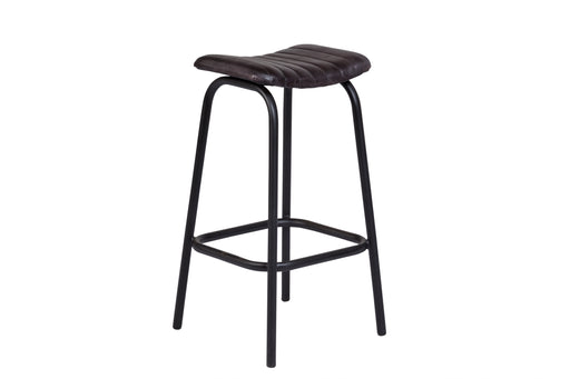 OSCAR GRAY LEATHER STOOL image