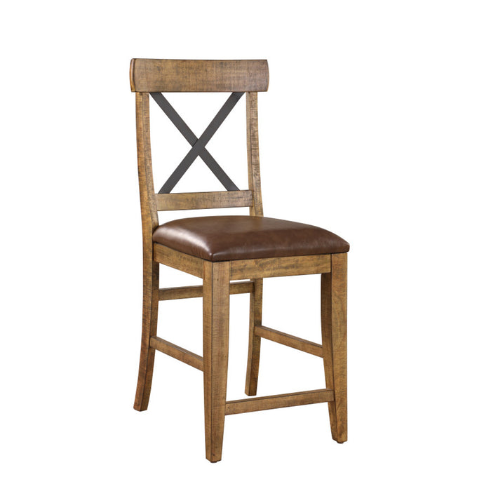 Emerald Home Chandler Bar Stool (Set of 2) in Brown D100-24