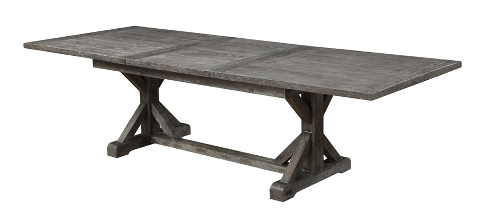 Emerald Home Paladin Dining Table in Rustic Charcoal D350-10-K