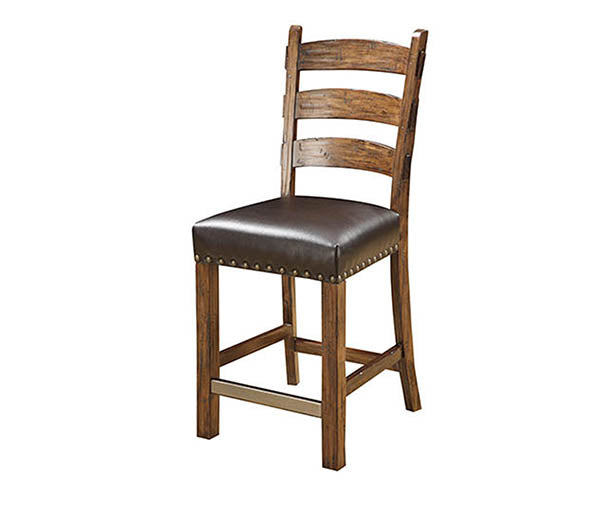 Emerald Home Chambers Creek Barstool (Set of 2) in Distressed Brown D412-24