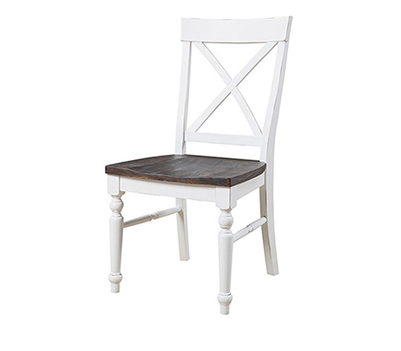 Emerald Home Mountain Retreat Side Chair (Set of 2) in Antique White/Brown D601-20