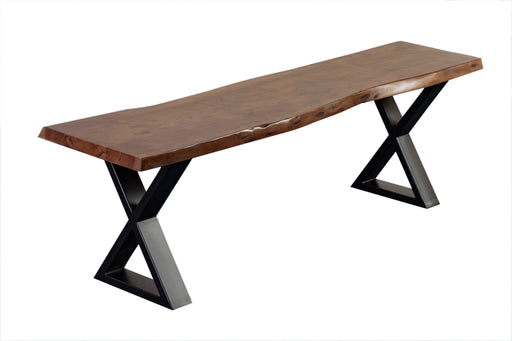 MANZANITA WALNUT BENCH X BASE image