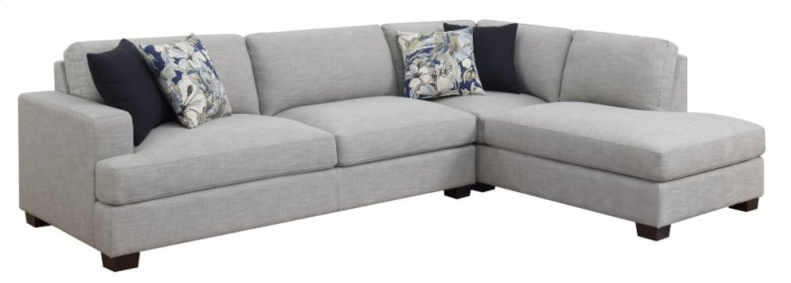 Emerald Home Vernon Sectional Loveseat in Granite Gray U4369-30-03