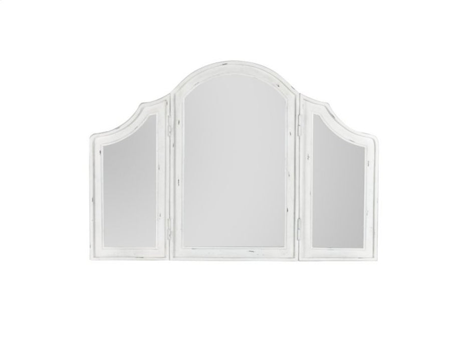 Emerald Home Bordeaux Trifold Mirror in Antique White B312-27
