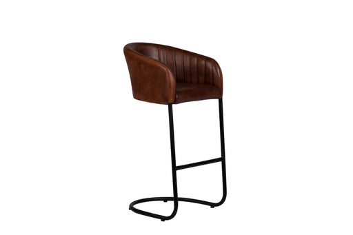 DEXTER COGNAC LEATHER STOOL image