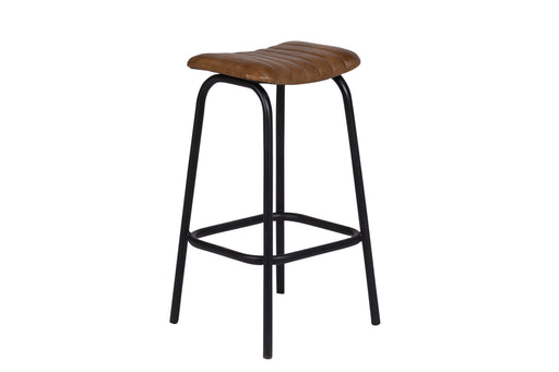 OSCAR COGNAC LEATHER STOOL image