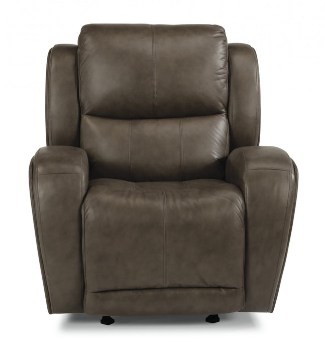 Flexsteel Latitudes Chaz Leather Power Gliding Recliner 1839-54P/453-72 image