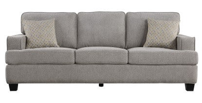 Emerald Home Furnishings Carter Sofa in Taupe U3477-00-43
