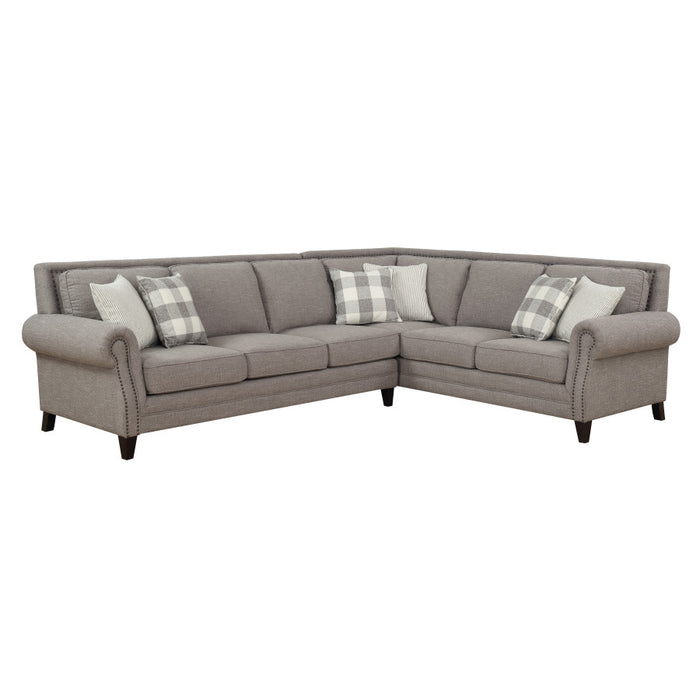 Emerald Home Furnishings Willow Creek Sectional Sofa in Gray U4120-11-12-13-K