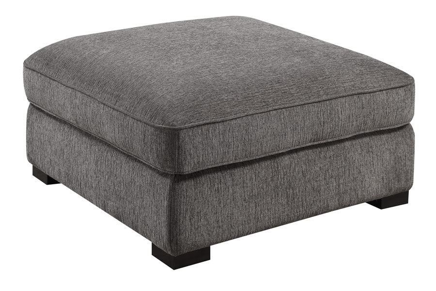 Emerald Home Furnishings Repose Cocktail Ottoman in Charcoal U4174-22-03