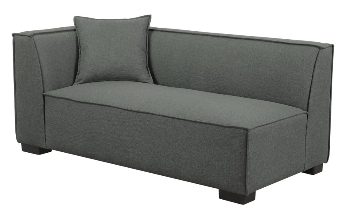 Emerald Home Lonnie LSF Loveseat in Gray Cinder U4331-11-03