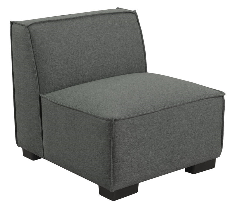 Emerald Home Lonnie Armless Chair in Gray Cinder U4331-15-03