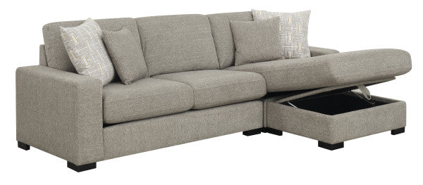 Emerald Home Furnishings Brahms 2pc Sectional Sofa in Gray U4391-11-12-03-K