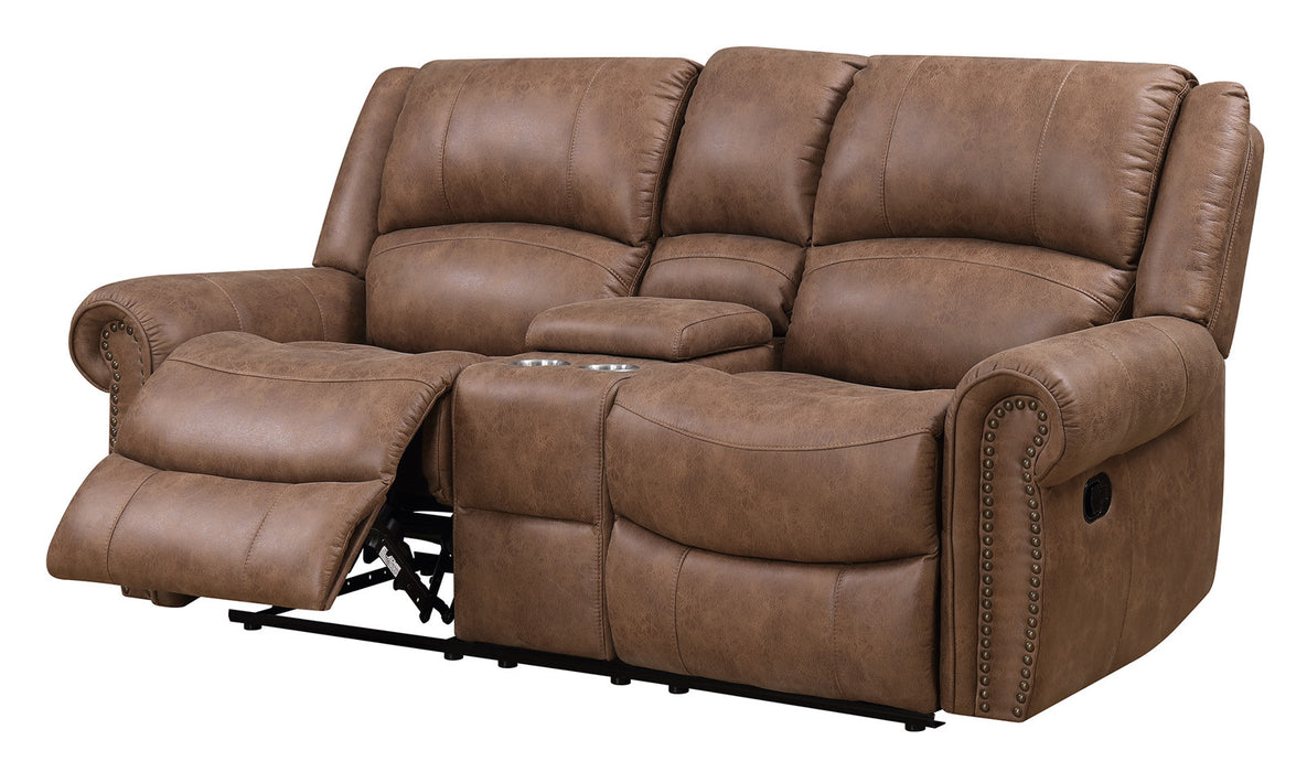 Emerald Home Spencer Loveseat in Brown U7122-09-05