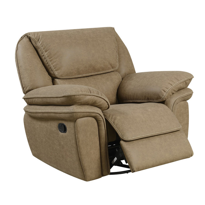 Emerald Home Allyn Swivel Glider Recliner in Desert Khaki U7127-04-15