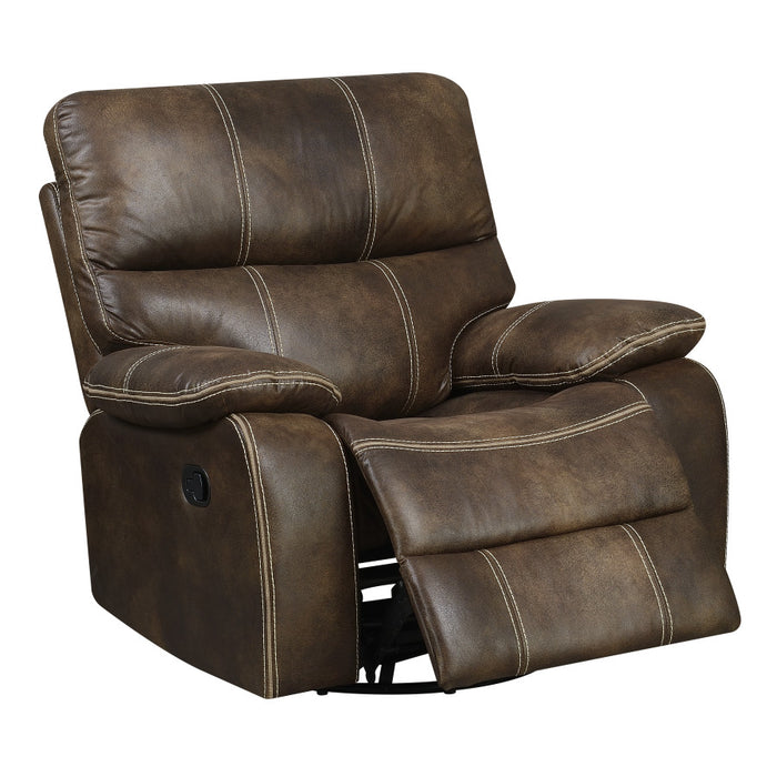 Emerald Home Jessie James Swivel Glider Recliner in Brown U7130-04-05
