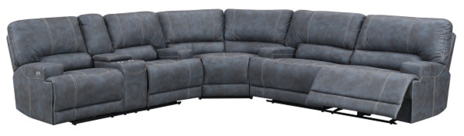 Emerald Home Furnishings Highland 3pc Sectional Sofa in Gray
