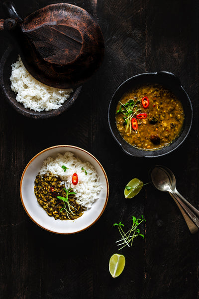 Split Black Lentil Curry with Rice