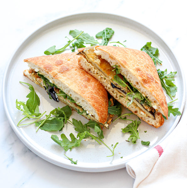 Sandwich With Eggplant Cutlet