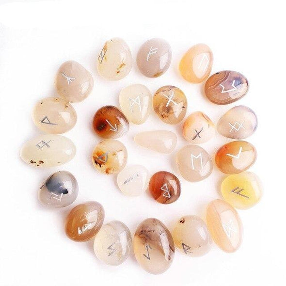 White Aquatic Agate Runes