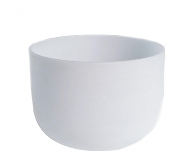 "Frosted Notes 8"" Quartz Singing Bowl"